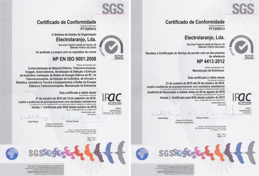 Certificados SGS