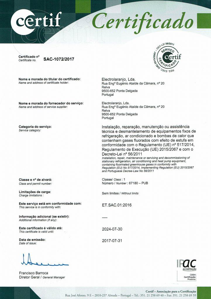 Certificado CERTIF